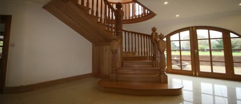 Carpentry Work new wooden staircase